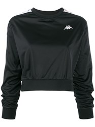 Kappa Omini Logo Band Cropped Sweatshirt Black