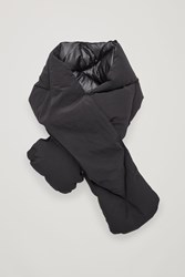 Cos Reversible Quilted Scarf Black