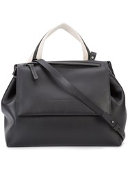 Brunello Cucinelli Contrast Shoulder Bag Black