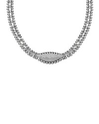 Lagos Caviar Spark Diamond Marquis Necklace