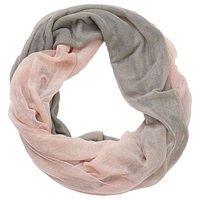 Betty Barclay Two Tone Snood Grey Rose