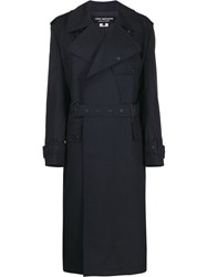 Junya Watanabe Belted Trench Coat Blue