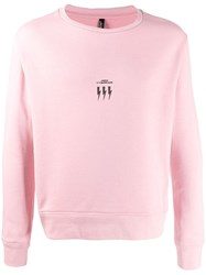 Neil Barrett Lightning Bolt Logo Sweater Pink