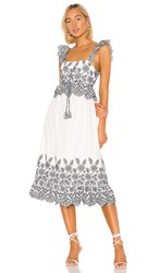 Tularosa Charlie Dress In Black And White. White And Navy