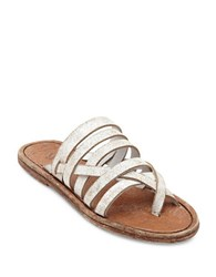 Matisse Vara Strappy Leather Flat Sandals White
