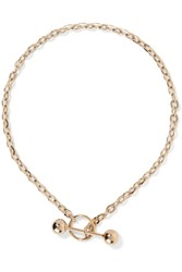 Saskia Diez Barbelle Gold Plated Choker One Size