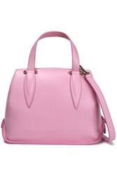 Delpozo Benedetta Leather Shoulder Bag Baby Pink