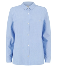 People Tree Dora Chambray Shirt Blue