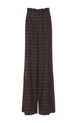 Stella Jean Plaid Paper Bag Trousers