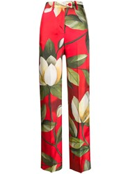 F.R.S For Restless Sleepers High Waist Wide Leg Trousers Red