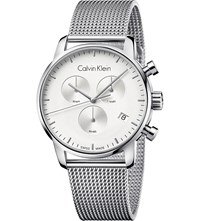Calvin Klein City Stainless Steel Chronograph Watch White