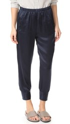 Vince Slim Satin Jogging Pants Coastal