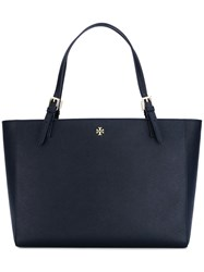 Tory Burch Large Double Handles Tote Blue