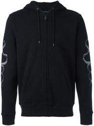 Marcelo Burlon County Of Milan Snake Embroidered Hoodie Black