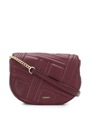 Dkny Quilted Cross Body Bag Purple