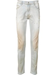 Represent Distressed Skinny Fit Jeans Blue