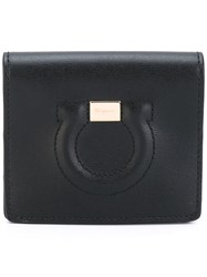 Salvatore Ferragamo Gancio Card Holder Women Calf Leather One Size Black