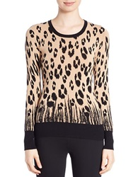 Buffalo David Bitton Leopard Print Sweater Camel Combo