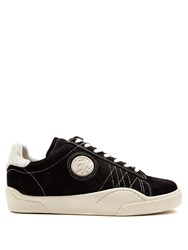 Eytys Wave Rough Low Top Suede Trainers Black Multi