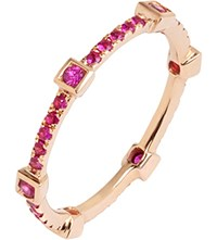 Annoushka Pavilion Pink Sapphire 18Ct Rose Gold Eternity Ring