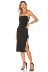 Donna Mizani Daphne Midi Dress Black