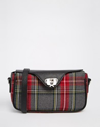 Fred Perry Signiture Tartan Across Body Bag Grey