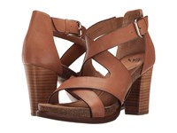 Sofft Canita Sand Cow Oily Veg High Heels Brown