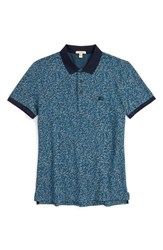 Men's Burberry Brit 'Healey' Floral Print Polo