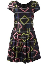 Emporio Armani Geometric Print Dress Black