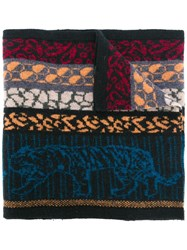 Paul Smith Ps By Tiger Intarsia Scarf