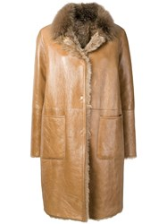 Manzoni 24 Shearling Lined Coat Brown