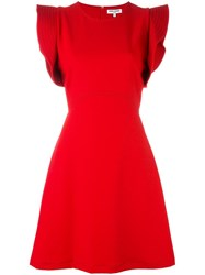 Opening Ceremony Frill Sleeve Dress Red