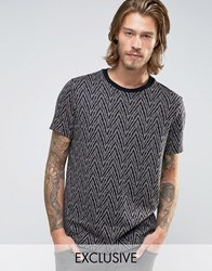 Reclaimed Vintage Knitted T Shirt Black