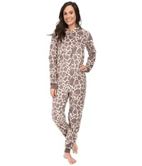 Pj Salvage Giraffe Cuddle One Piece Taupe Women's Jumpsuit And Rompers One Piece