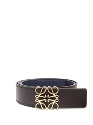 Loewe Anagram Leather Belt Black