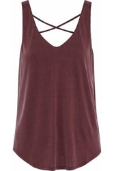 Tart Collections Celestia Cutout Brushed Jersey Tank Burgundy