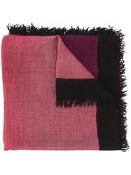 Faliero Sarti Ombre Scarf Pink And Purple