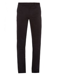 Burberry Slim Leg Cotton Chino Trousers