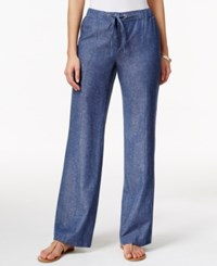 Jm Collection Petite Chambray Drawstring Pants Only At Macy's