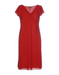 Almeria Knee Length Dresses Red