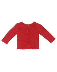 Pili Carrera Knit Knot Cardigan W Footed Pajamas Size 1 6 Months Red