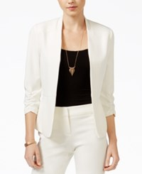 Amy Byer Bcx Juniors' Peplum Blazer White