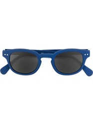 See Concept Square Shaped Sunglasses Blue