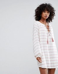 D.Ra Montecito Tunic Dress Turkish Stripe White