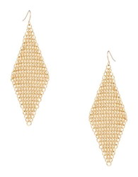 Abs By Allen Schwartz Mesh Drop Earrings Gold
