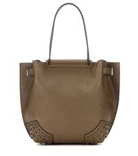 Tod's Gommini Small Leather Tote Green