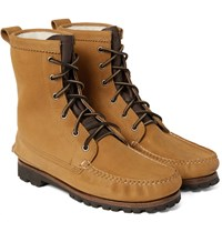 Quoddy Grizzly Shearling Lined Chamois Nubuck Boots