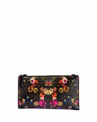 Givenchy Pansies Coated Canvas Zip Wallet Multi
