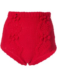 Macgraw Cable Knit Knicker Shorts Red