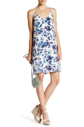 Charlie Jade Print Silk Short Dress Blue